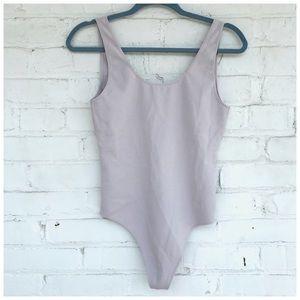 Aritzia Wilfred Free Lavender Leila Bodysuit